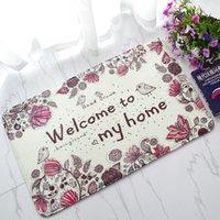 Wholesale Anti Slip Floor Mat Effiel Tower slip resistant Door mat Charpet rug kitchen bedroom barthroom floor mats