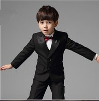 Wholesale Custom Made flower boy suis tuxedos suits formal occasion tailcoat birthday party suits tuxedos suits pieces jacket pants