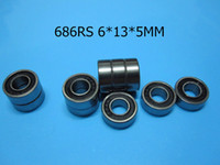 686RS ABEC-5 cojinetes mini 10pcs caucho sellado Mini Bearing envío gratuito 686 686RS 6 * 13 * 5 mm de cojinete de acero de cromo