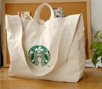 Wholesale 2016 Starbucks Starbucks Messenger Shoulder Mummy Bag Canvas leisure shopping bags Large Shoulder Bag Messenger Bag