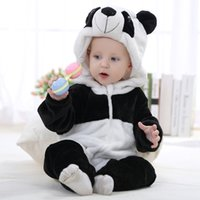 animal custome - Winter Coral Fleece Romper Cute Warm Long Sleeve Jumpsuit Animal Shape Baby Clothing Newborn Outfit Custome Snowsuit VT0342