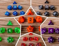 acrylic side table - 7pcs Set Acrylic Polyhedral TRPG Games For Dungeons Dragons D4 D20 Multi Sides Dice Pop for Game Gaming