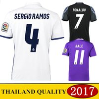 Wholesale 2016 Real Madrid shirts Real Madrid shirts RONALDO BALE BENZEMA MARCELO Camisetas shirts