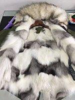 Acheter Lignes de capot-Real picture show 1: 1 Italie Mrmrs femmes fourrures mini parkas capuche avec raccoon fourrure collier real fox fourrure doublure
