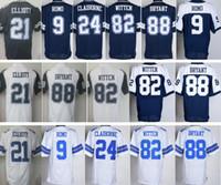 Wholesale Thanksgiving Ezekiel Elliott Jerseys Uniforms Tony Romo Morris Claiborne Jason Witten Dez Bryant Jersey Color Rush White Blue