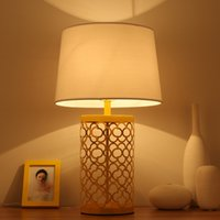 Wholesale Modern American export gold hollow cage iron lamp Continental Iron home gold metal grid lamp Weave Metal Table Lamp Muted Gold