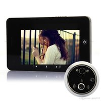 Wholesale US Stock Digital door viewer LCD Screen Door Peephole Camera Night Vision door camera Doorbell Motion Detection