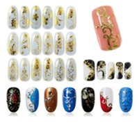 Wholesale Fashion Beauty Flower Nail Stickers Manicure Decals Stamping French Nail Art D DIY Tips Beauty Tools