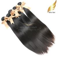 Brazilian Vierge Cheveux raides Hair Weave Remy Human Hair Extension 3pcs / lot Livraison Natural Couleur Etat 7A 10-30 pouces gratuit