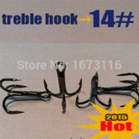 Wholesale new round bent treble hooks High quality quantily