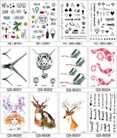 Wholesale Waterproof Tattoos Stickers High Quality Fashion Tattoos Body Art Temporary Tattos Sexy Male Female Flash Tattoos Style TA006