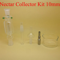 australia titanium - Popular mm Nectar Collector Kit Pyrex Glass Bongs mm Titanium Ecigs Hookah Sets With Gift Box DHL Free to USA UK Canada Australia