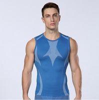 Wholesale Men s Summer Sports Vest Running Training Gym Tightfitting Undershirts Breathable Quick Dry Bodybuilding Sleeveless Singlets