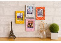 Wholesale 2016 new mini decorative frame Diamond Frame love family frame framework leather home accessories Art DIY