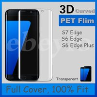 Wholesale PET Flim D Curved Protector For Samsung S6 Edge S6 Edge Plus S7 Edge Top Quality Fast Delivery