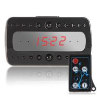 Wholesale Full HD P Remote Control Black Pearl RF Night Vision Hidden Spy Alarm Clock Camera with stereoscopic UV finish on device body