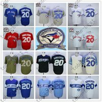 Wholesale Toronto Blue Jays Josh Donaldson Jersey White Gray Red Blue th Anniversary Patch Stitched Jersey