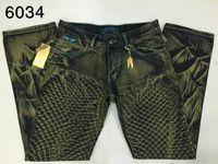 Wholesale Robin jeans for men Original quality mens brand desginer Rhinestone Decoration Straight Jeans Classic Denim Trousers Slim Jeans pants