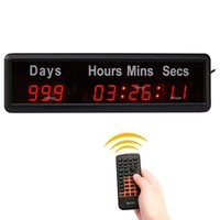 Wholesale 1 Digital High Event Timer Christmas New Year Counts Down Up Days Indoor LED Countdown Clock