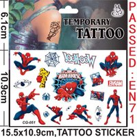 Wholesale DHL Free psc MIXED Children Tattoo Sticker Cartoon Custom Hand Skin Tattoos Stickers Waterproof Cartoon Sticker Minion Spiderman Pony
