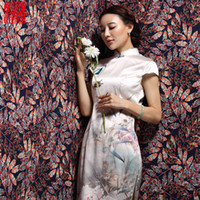 Wholesale 2016 summer fashion slimming cheongsam Cheongsams with handmade beads decoration silk short dress