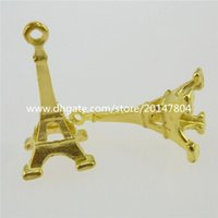 Wholesale 13057 Alloy Gold Tone Paris Eiffel Tower Building Pendant Charms