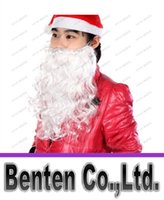 Wholesale christmas santa claus beards Costume Mustache False Beard santa claus white beard santa claus costume halloween beard LLFA