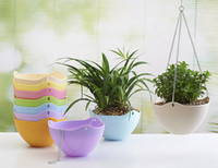 balcony storage - Big size cm pp material hanging flower pot balcony potted water storage pot