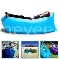 beach chair lounger - 2016 New Lamzac Hangout Fast Inflatable Lounger Air Sleep Camping Sofa KAISR Beach Nylon Fabric Sleeping Bag Bed Lazy Chair ourdoor