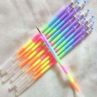 Wholesale 50pcs Rainbow Pen Gel Pen Refills Marker Pens Supplies in Color Pen Refills Writing Supplies Stationery Material Escolar