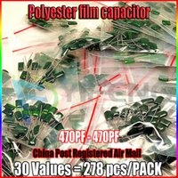 assorted capacitors - Lowest Price Values Polyester Film Capacitor Assorted Assortment Kit pf nf