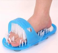 bend pvc - Factory Price New Easy Feet Bathroom Slippers Foot Massage Rubbing Foots Exfoliating Slipper Drag No More Bending to Clean Your Feet