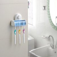 Wholesale New Suction Cup Wall Mount Bathroom Hooks Toothbrush SpinBrush Rack Stand Holder
