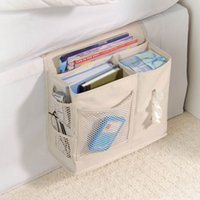 bedside storage caddy - 6 Pockets Bedside Caddy Bag Storage Mattress Book Remote For Household