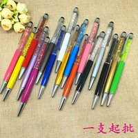 Wholesale Colorful in Swarovski Crystal Capacitive Touch Stylus Ball Pen for iPhone plus S S C HTC Samsung cell phone