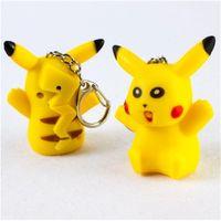 Wholesale Pocket Poke Go Pikachu LED Light Little Lovely Keychain Flashlight Light Cute Portable High Quality L101