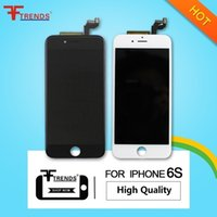 apple supply - High Quality A for iPhone S LCD Display Touch Screen Digitizer Full Assembly Black White Factory Supply LONGTENG