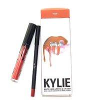 Wholesale 2016 Latest colors Kylie lip kit Lip Gloss Lipkit Lipstick Lipliner kit Kylie Jenner Matte Lipstick colors great
