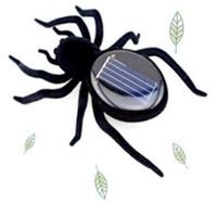 Wholesale Novelty Toys New High Quality Solar Power Legs Black Crazy Spider Children Toy Solar Energy Toy