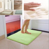 Wholesale 1 New Memory Foam Bath Mats Bathroom Horizontal Stripes Rug Non slip Mats quot x24 quot inch
