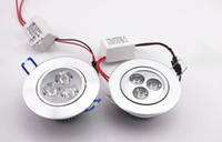 Wholesale HOT w down light ceiling light SLIVER colour shell Non dimmable cool warm white degree angle yrs warranty