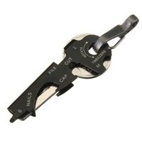 Wholesale 8 in Keychain Gadget Utility Key Ring EDC Multi function Pocket Tool Survival