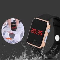 adjust timing belt - Men s women s fashion trend upgraded version of the LED waterproof sports electronic watch can be adjusted in the water time