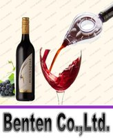 Wholesale New Novelty With Retail Box Homebrew Wine Aerator Bottle Topper Pourer Aerating Decanter Pour Filter LLFA