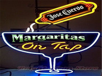 margarita glass - 2016 LED Jose Cuerou Margaritas On Tap Real Glass Neon Light Signs Bar Pub Restaurant Billiards Shops Display Signboards quot x14 quot