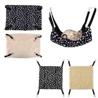 bag cage - Polk Dot Polyester Rat Rabbit Chinchilla Cat Cage Hammock Small Pet Dog Puppy Bed Cover Bag Blankets Mascotas Cachorro Honden
