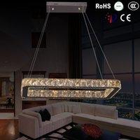 ac pendant stainless - AC v V W sizes Modern LED crystal Pendant lights lamps Abajur livingroom bedroom kitchen stainless steel lights