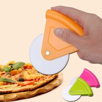 Wholesale Piece Pizza Cutter ABS Stainless Steel Wheels Pastry Slicer Pancake Bakeware Knife Kitchen Tools JE0245
