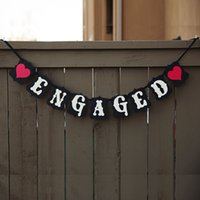 Wholesale New Engaged Banner Wedding Hen Party Bunting Garland Garden Hanging Decor Rustic Photo Prop For