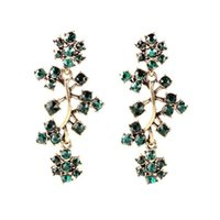 antique china brands - Royal Affair Exaggerated Long Gold Antique Jewelry Novelty Shining Cluster Brand Earrings All Match Clearly Sparkly Crystal china